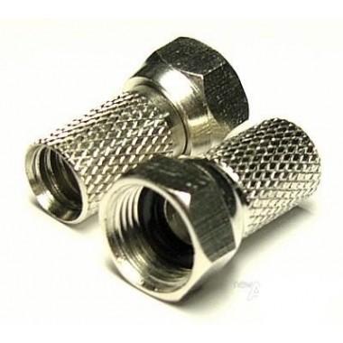 Штекер F (RG-59) накрутка, диам.-4,8мм, цинк (1 шт.) #4:46