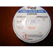 Припой Cynel Sn60Pb40-SW26, диам.-0,25мм (1 м)