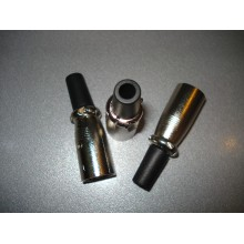 Штекер CANON (XLR) 3pin, под шнур, корпус металл (1 шт.)