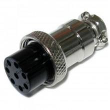Разъём MIC 328 big (гнездо), под кабель, 8pin, диам.-20мм
