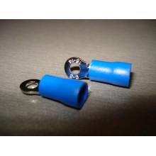 Кабельный наконечник кольцевой с изоляцией 1,5-2,5кв.мм, 27А, диам.отв.-3,2мм, синий (1 шт.) RV2-3