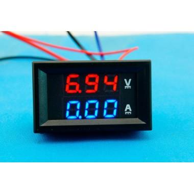 Цифровой вольтметр амперметр DC 0-100V 10A  #4:13