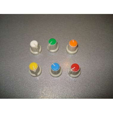 Ручка AG 1 для потенциометра серая с цветной вставкой (1 шт.) колпачок