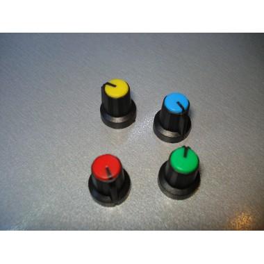 Ручка AG 1 для потенциометра черная с цветной вставкой (1 шт.)