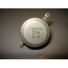 Переменный резистор СП-1 27 КОм А-1ВТ-II (1 шт.)