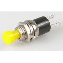 Кнопка малая PBS-10B-2 без фиксации OFF-(ON) 2-х контактная, 1А, 250V, жёлтая (1 шт.)