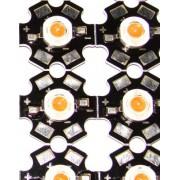 Фито светодиод 3W 3Вт фитосветодиод на радиаторе  (1 шт.)