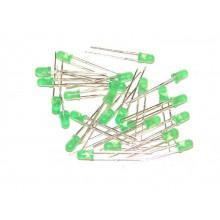 Светодиод 3 мм зеленый диффузный дифузный (1 шт.) #3:21