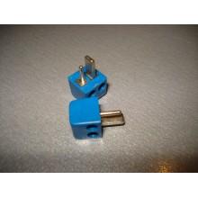 Штекер колоночный 2-х контактный п\винт, квадратный, синий (1 шт.) #4:21