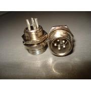 Разъём MIC 335 mini (штекер), монтажный, 5pin, диам.-12мм (1 шт.)