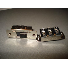 Переключатель движковый KBB70(Р)-2P2W ON-ON 6-и контактный, 3A, 250VAC (1 шт.)