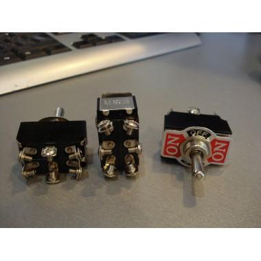 Тумблер KN3(B)-203 (ON-OFF-ON) 6-и контактный, 6A, 250VAC