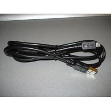 Шнур компьютерный штекер USB А - штекер mini USB 5pin v.2.0, с фильтром, диам.-3,5мм, 1,5м (1 шт.)