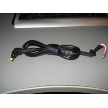 Разъём питания к ноутбуку 5,5/1,7мм угловой, с кабелем (1 шт.)
