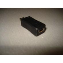 Переходник штекер mini USB - гнездо micro USB, пластик (1 шт.)