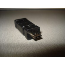 Переходник штекер micro USB - гнездо mini USB, пластик