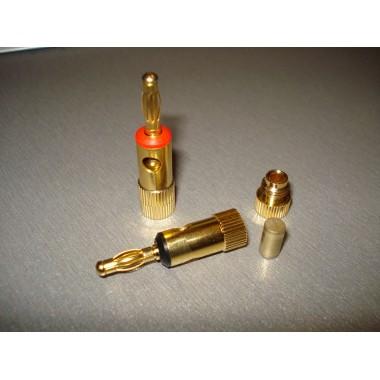 Штекер акустический Banan под кабель, gold, корпус металл (1 шт.) #1:61