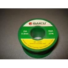 Припой BAKKU проволочный Solder wire BK10005 DIA 0,5mm (50g)