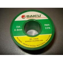 Припой BAKKU проволочный Solder wire BK10002 DIA 0,6mm (50g)