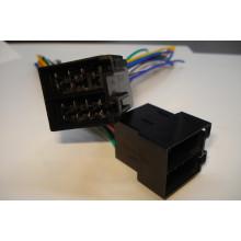 Разъём автомагнитолы ISO (штекер) сдвоенный, с кабелем 0,2 метра