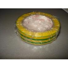 Изолента ПВХ, длина 21 метров, ширина 17 мм, термостойкая, цвет - желто-зеленый