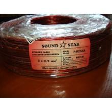 Кабель акустический алюминиево-медный, 2х0,9мм.кв., красно-чёрный (1 м)