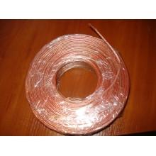 Кабель питания акустический, алюминиево-медный, 2х0,75мм.кв., прозрачный (1м)