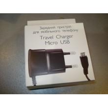 Сетевое зарядное устройство СЗУ slim box micro USB 5V 0.6A