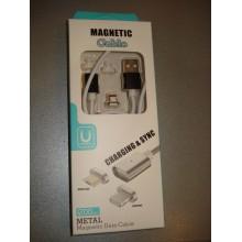 Кабель магнитный шнур iPhone Lightning Usb Magnetic Cable