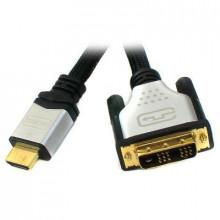 Кабель мультимедийный HDMI to DVI 18+1pin M, 3.0m Viewcon (VD 066-3m.)
