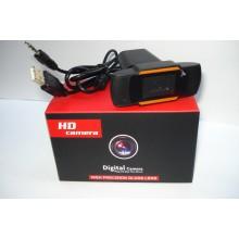 Вебкамера с гарнитурой Merlion F37, 720p, пласт. корпус, Black, Q100
