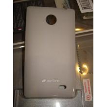 Чехол для моб. телефона Melkco для Nokia X A110 Poly Jacket TPU Gray