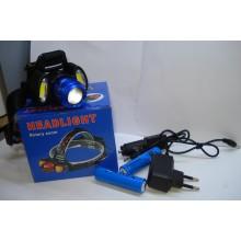 Налобный фонарь BL 862 T6 + COB 3861