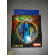 Переходник-адаптор ETHERNET USB 2.0 (штекер USB A - гнездо 8P8C(RJ45) (1 шт.)