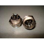 Разъём MIC 335, (штекер), монтажный, 5pin, диам.-16мм