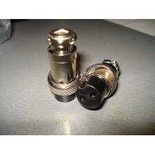 Разъём MIC 322, (гнездо), под кабель, 2pin, диам.-16мм