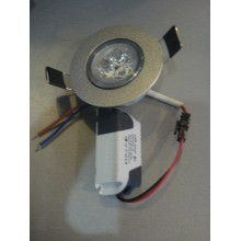Лампочка LED Lamp 3W Врезная круглая точечная
