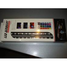 Led подсветка для авто RGB 7 цветов HR-01678 водонепроницаемая