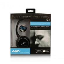 Беспроводные наушники bluetooth MDR NIA Q1 microSD Black