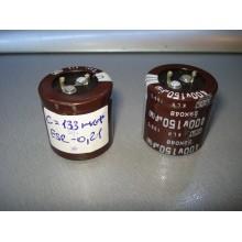 Конденсатор  демонтаж 150 Mf 400 V d3/h3 (1 шт.) 150 400 #стенд