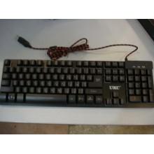 USB проводная компьютерная клавиатура ZYG 800 (KR-6300) с подсветкой
