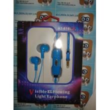 Вакуумные светящиеся наушники AT-618 LED MDR 618 light