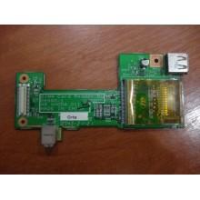 Плата разъемов USB, карт ридер, FireWire 1394 ACER