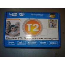 Цифровой ТВ тюнер приставка Т2 для эфирно просмотра каналов DVB-T2 lcd с поддержкой wi-fi адаптера и MeGoGo