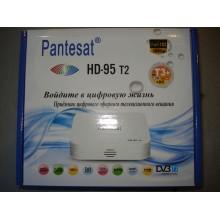 Цифровой тв тюнер приставка Т2 для эфирного просмотра каналов DVB-T2 Pantesat 95 HD с поддержкой wi-fi адаптера