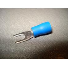 Кабельный наконечник вилочный с изоляцией 1,5-2,5кв.мм, 27А, диам.отв.3,2мм синий (1 шт.) SV2-3