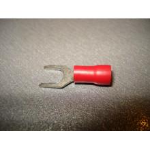 Кабельный наконечник вилочный с изоляцией 0,5-1,5кв.мм, 19А, диам.отв.3,2мм красный (1 шт.) SV1.25-3