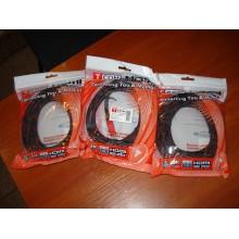 """Кабель HDMI-HDMI (3 m) (штекер - штекер) v.1.4, """"позолоченный"""", фильтр + сетка, 3м, чёрно-красный"""