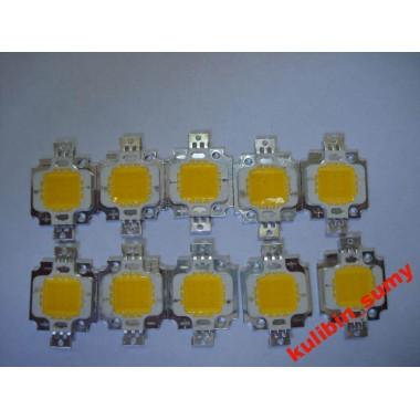 Светодиод 10 ватт холодный белый (1 шт.)