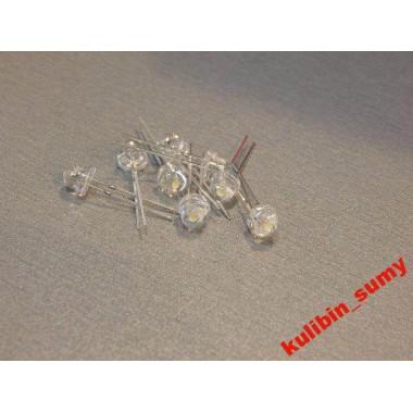 Светодиоды LED 5 мм (широкоугольный белый) (1 шт.)